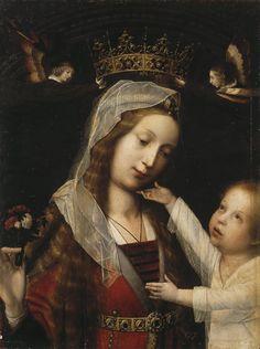 Madonna with the Child, Jan Provost. Flemish Northern Renaissance Painter (1465-1529)