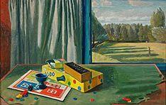 "Charles Mahoney, ""Still Life With Landscape"", 1959"