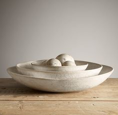 Stoneware Nesting Bowl | Restoration Hardware | whatever size is good for a fruit bowl