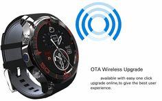 S1 3G 1.3inch GPS Pedometer 512MB 4G WIFI Camera Andriod 5.1 SIM Card Bluetooth Smartwatch Phone