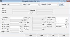 Rental Agreement Cut Short - Speed Car Rental Software