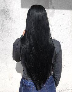 Long Silky Hair, Long Dark Hair, Long Straight Black Hair, V Cut Hair, Hair Cuts, Beautiful Long Hair, Gorgeous Hair, Wig Hairstyles, Straight Hairstyles