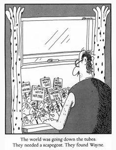 the far side comics online Far Side Cartoons, Far Side Comics, Funny Cartoons, Funny Comics, Funny Jokes, Hilarious, The Far Side Gallery, Gary Larson Far Side, Gary Larson Cartoons