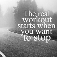 The real workout...