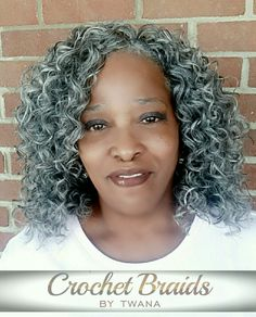Grey Crochet Hair Styles : Crochet braids, In color and Braids on Pinterest