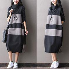 Women Autumn Warm Long Maxi Dress