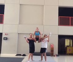 "mybowsbigger: ""gotta-love-cheer: ""Wildcats stunt "" Lol I was doing this today but without the full up "" Amazing Gymnastics, Gymnastics Videos, Tumbling Gymnastics, Gymnastics Moves, Gymnastics Stuff, Acrobatic Gymnastics, Olympic Gymnastics, Olympic Games, Cool Cheer Stunts"