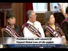 總統接見全球熱愛生命獎章得主 President meets the Love of Life awards recipients—宏觀英語新聞