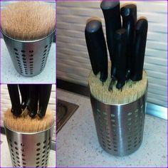 Bıçaklık / Knife block Chopsticks in an Ikea box ☺