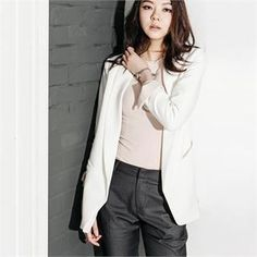 Buy 'MAGJAY – Padded-Shoulder Contrast-Trim Jacket' with Free International Shipping at YesStyle.com. Browse and shop for thousands of Asian fashion items from South Korea and more!