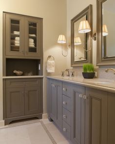 Gray Bath Cabinets