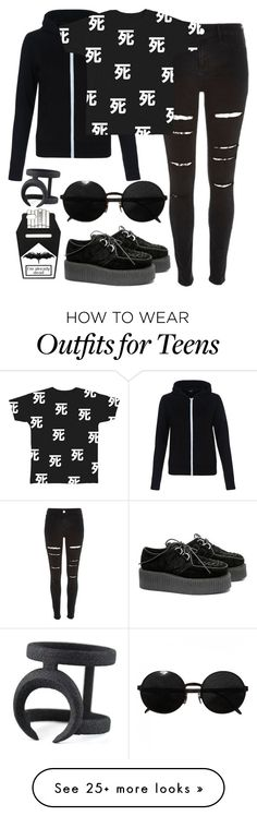 """Untitled #21"" by krenzartha on Polyvore featuring River Island, Versace, women's clothing, women's fashion, women, female, woman, misses and juniors"