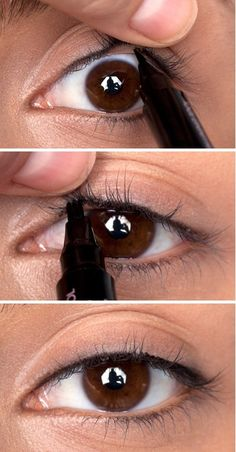 "Tightlining your eyes (also known as the ""invisible eye liner"") is a great way to add a subtle definition to your eyes."