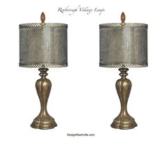 Roxborough Village Lamps set of 2