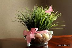 easter table spring decor