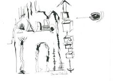 DARTGR0815062 #ink #black #landscape #Italy #house #sketches #drawing #art #danieladallavalle #Italy