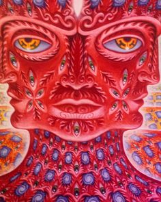 Up close and personal with Alex Grey's Net of Being at CoSM.  #AlexGrey #CoSM #ChapelOfSacredMirrors