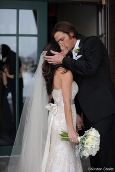 """Genevieve Cortese and Jared Padalecki -- Jared and Genevieve's Wedding- February 27th 2010   """"As Gen came around the corner I was watching Jared's face. He had tears in his eyes. When their eyes met they both began to cry. At that moment it was clear what all the songs are written about."""" - Genevieve's friend Susan who attended the wedding. #PadaleckiWedding"""