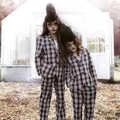 Lovely #halloween plaids! By @karolinahenke for #lapetitemag #kidsfashion #halloweencostume #happyhalloween #kidstyle: