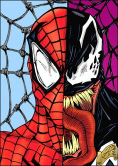 This is the second Spider-Man / Venom drawing that I colored for and I hope this one gets as many views as the other one! (check [link] for the first o. Spider-Man / Venom - Darkartistdomain and me Venom Spiderman, Spiderman Drawing, Drawing Superheroes, Marvel Venom, Marvel Drawings, Spiderman Art, Amazing Spiderman, Spiderman Sketches, Hero Marvel