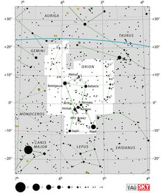 orion constellation,star map,star chart,stars in orion,orion location