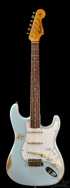 "Fender ""L-Series"" 1964 Super Heavy Relic Stratocaster Faded Sonic Blue - Wild West Guitars"