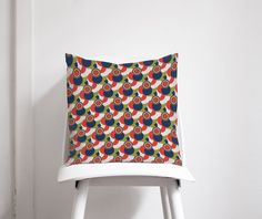 Red White and Blue Poppies Geometric cushion Contemporary Cushions, Geometric Cushions, Nursery Neutral, White Fabrics, Bath Decor, Bed Design, Nursery Decor, Red And White, Sea