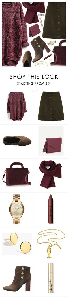 """Fall Fashion"" by pokadoll ❤ liked on Polyvore featuring Bertoni, Lacoste, Michael Kors, tarte, J.Crew and Smith & Cult"