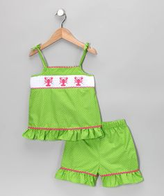 Lobster Ruffle Tank & Shorts - Infant & Toddler by Candyland on #zulily today!