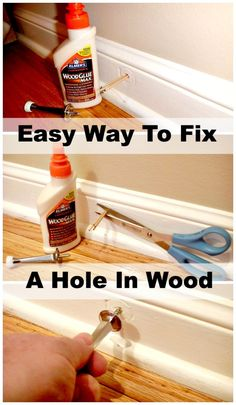 home repair diy,house repairs,fix your home,home maintenance hacks Easy Projects, Home Projects, Dyi, Diy Home Decor For Apartments, Home Fix, Diy Home Repair, Thing 1, Wood Trim, Home Repairs