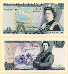 Great Britain Five Pound Banknote Queen Elizabeth and Duke of Wellington Signed DHF Somerset Prefix 700 million add hw 1970s Childhood, My Childhood Memories, Childhood Toys, Young Queen Elizabeth, Prinz Philip, Edinburgh, Money Notes, Old Money, Herzog
