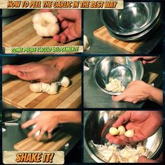 Easy Lifehack to clean Garlic in the best way!