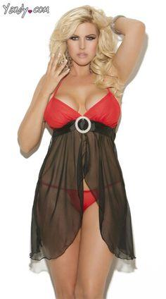 91556e9a294 Yandy.com plus size lingerie Chiffon Skirt