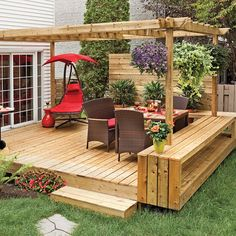 The wooden pergola is a good solution to add beauty to your garden. If you are not ready to spend thousands of dollars for building a cozy pergola then you may devise new strategies of trying out something different so that you can re Diy Pergola, Pergola Canopy, Outdoor Pergola, Pergola Ideas, Pallet Pergola, White Pergola, Deck With Pergola, Cheap Pergola, Pergola Lighting