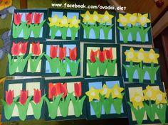 Óvodai Élet: Virágok ablakkerettel