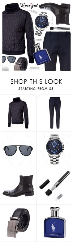 """""""Rosegal padded turtleneck sweater for men"""" by vn1ta ❤ liked on Polyvore featuring Gucci, Ralph Lauren, men's fashion and menswear"""