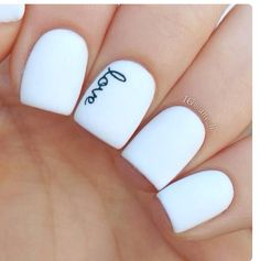 Nice simple nails look so good
