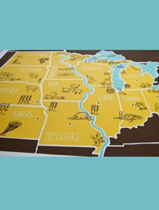 American Atlas - Midwest Poster by Brainstorm