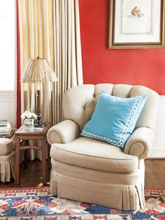 Classic design never goes out of style. This sitting area was inspired by the interior of a country club. #hgtvmagazine http://www.hgtv.com/decorating-basics/motherdaughter-decorating/pictures/page-4.html?soc=pinterest