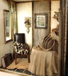 The Room with LV traveling bags