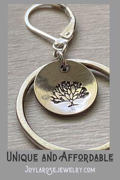 Tree of Life Hoop Earrings / Silver Hoop Earrings – Gift for Women - Metarnews Sites Silver Hoops, Heart Earrings, Silver Necklaces, Sterling Silver Earrings, Women's Earrings, Silver Rings, Handcrafted Jewelry, Earrings Handmade, Gemstone Jewelry