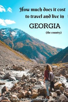 How much does it cost to travel and live in Georgia (the country)? Here's an overview of our daily and monthly costs for food, transport and accommodation in Georgia. A perfect budget backpacker's destination! https://www.journalofnomads.com/georgia-budget/?utm_campaign=coschedule&utm_source=pinterest&utm_medium=The%20Full-Time%20Tourist