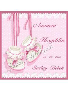Patik Kız Bebek Şekeri İsim Etiketi #babyshower #bebekşekeri #bebekşekerietiketi