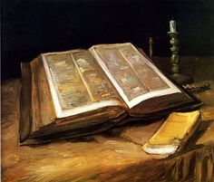 The Open Bible by Vincent Van Gogh, 1885