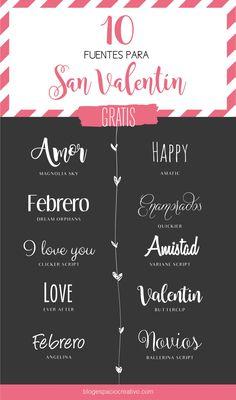 Fuentes tipográficas para San Valentín - Blog Espacio Creativo