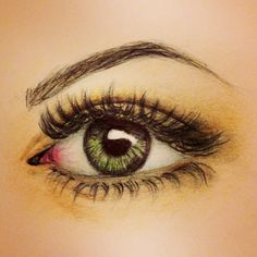 eye drawing with crayons - Google Search