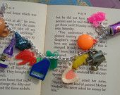Cracker Jack toys on a charm bracelet...so fun!!!