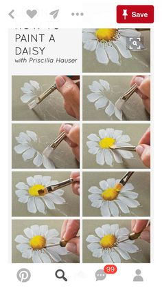 art painting watercolor Learn how to paint a daisy with Priscilla Hauser! Super easy step by steps Art Painting Easy Source : Learn how to paint a daisy with Priscilla Hauser! Painting Tips, Painting Techniques, Painting & Drawing, Watercolor Paintings, Daisy Painting, Acrylic Paintings, Learn Painting, Painting Lessons, Easy Flower Painting