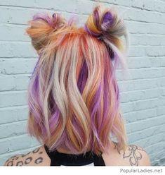 Orange and purple hair colors