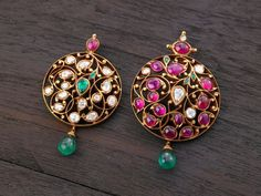 Indian Jewellery and Clothing: Elegant temple ruby jewellery from Arnav jewellers. Ruby Jewelry, India Jewelry, Bridal Jewelry, Jewelery, Gold Jewelry, Antic Jewellery, Gold Jewellery Design, Temple Jewellery, Jewellery Display